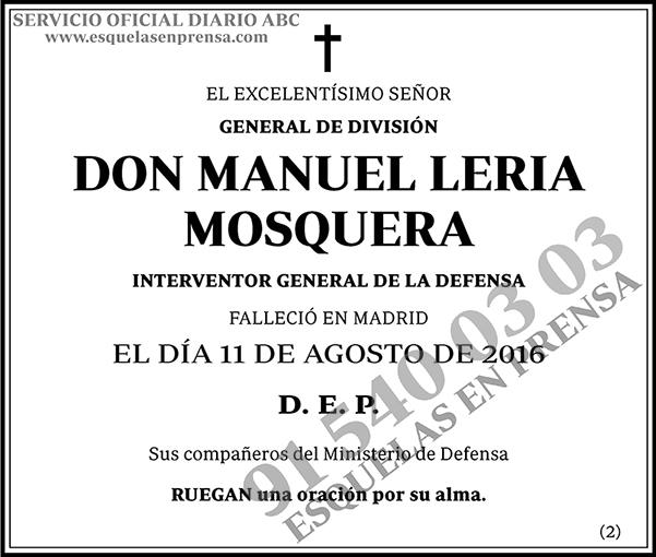 Manuel Leria Mosquera